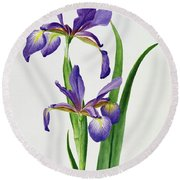 Iris Monspur Round Beach Towel