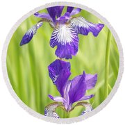Iris Pair Round Beach Towel