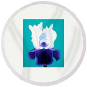 Iris Passion Round Beach Towel