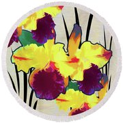 Iris Shadow Round Beach Towel