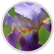 Iris Spirit Round Beach Towel
