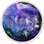 Iris With Buds 9821 Idp_2 Round Beach Towel