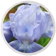 Irises Blue Iris Flower Light Blue Art Flower Soft Baby Blue Baslee Troutman Round Beach Towel