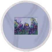 Irises2 Round Beach Towel