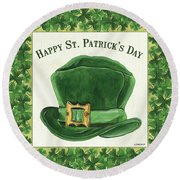 Irish Cap Round Beach Towel