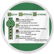 Irish Celtic Wedding Blessing Round Beach Towel