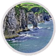 Irish Coast Round Beach Towel