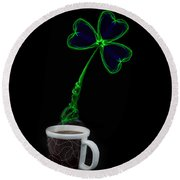 Irish Coffee Round Beach Towel