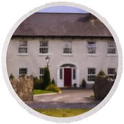Irish Country Estate Riverstown Ireland Round Beach Towel