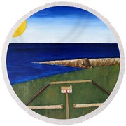 Irish Landscape 19 Round Beach Towel