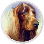 Irish Setter Round Beach Towel