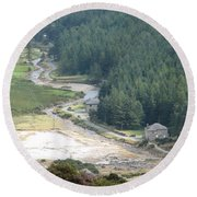 Irish Valley Round Beach Towel