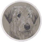 Irish Wolfhound Round Beach Towel