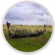 Irish Wreck Round Beach Towel