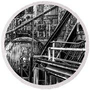 Iron Age - Bethelehem Steel Mill Round Beach Towel by Bill Cannon