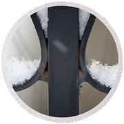 Iron And Snow Round Beach Towel