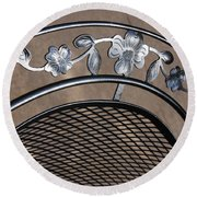 Iron Art Work Round Beach Towel