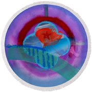Iron Butterfly Round Beach Towel