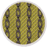 Iron Chains With Knit Seamless Texture Round Beach Towel