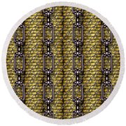 Iron Chains With Money Seamless Texture Round Beach Towel