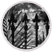 Iron Fence Round Beach Towel