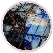 Iron Gate Abstract Round Beach Towel