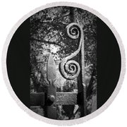 Iron Gate Detail County Clare Ireland Round Beach Towel