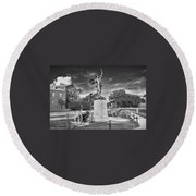 Iron Mke Statue - Parris Island Round Beach Towel
