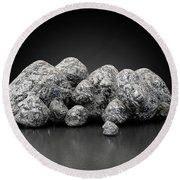 Iron Ore Nugget Collection Round Beach Towel