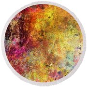 Iron Texture Painting Round Beach Towel