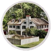 Ironmaster Mansion At Hopewell Furnace  Round Beach Towel