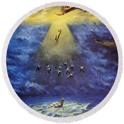 Iroquois Creation Myth Round Beach Towel