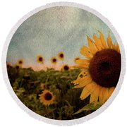 Is It Really Over? Round Beach Towel