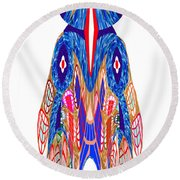 Is That A Head Or A Hat ??  Alien Fineart Graphic Whimsical Rohrshoc Abstract By Navinjoshi Round Beach Towel