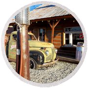 Is That You - Route 66 California Round Beach Towel