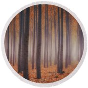 Is There Anybody In There? Round Beach Towel