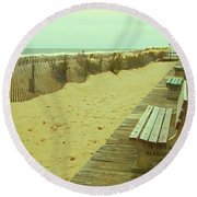 Is This A Beach Day - Jersey Shore Round Beach Towel