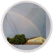 Is This The Pot Of Gold At The End Of The Rainbow Round Beach Towel
