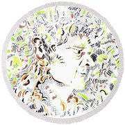Isaac Newton Round Beach Towel