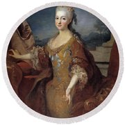 Isabella Louise Of Orleans. Queen Of Spain Round Beach Towel