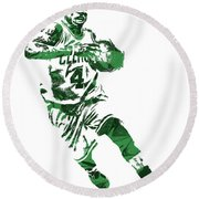 Isaiah Thomas Boston Celtics Pixel Art 5 Round Beach Towel