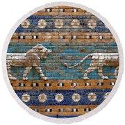 Ishtar Gate Round Beach Towel