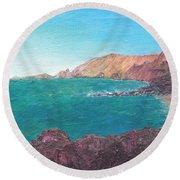 Isla D' El Hierro Round Beach Towel