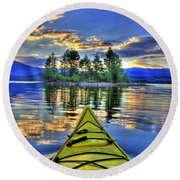 Island Adventure Round Beach Towel