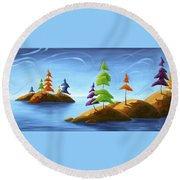 Island Carnival Round Beach Towel