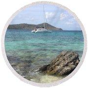 Island Dreaming Round Beach Towel