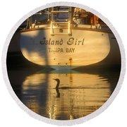 Island Girl Round Beach Towel