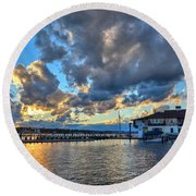 Island Heights  Round Beach Towel