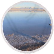Island In The Desert 3 Round Beach Towel