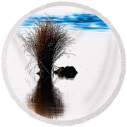 Island Of Reflection Round Beach Towel